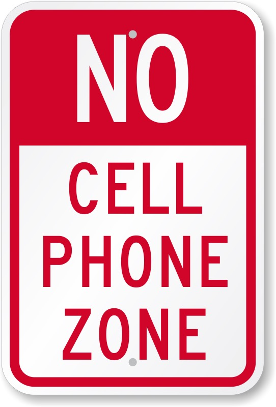 No - Cell Phone Zone